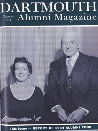 Cover for the December 1954 issue