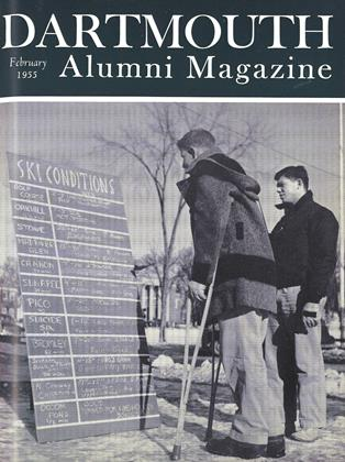 Cover for the February 1955 issue