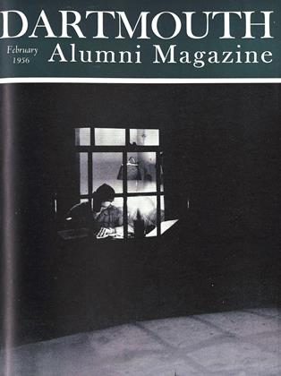 Cover for the February 1956 issue