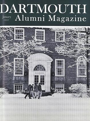Cover for the January 1957 issue