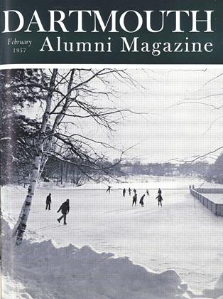 Cover for the February 1957 issue