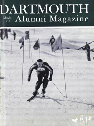 Cover for the March 1957 issue