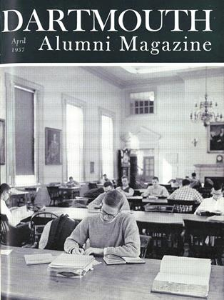 Cover for the April 1957 issue