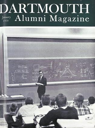 Cover for the January 1958 issue