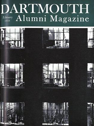 Cover for the February 1958 issue