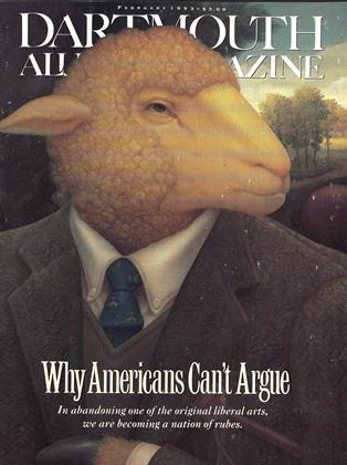 Cover for the February 1993 issue
